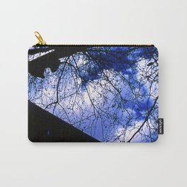Urban maple tree in a winter evening with a city building and a cloudy sky Carry-All Pouch