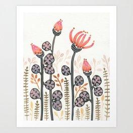 Strange Flowers Art Print