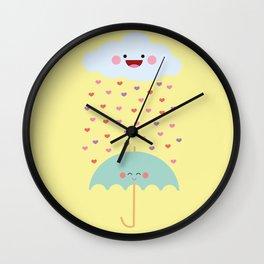 Love Rain Wall Clock