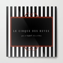 Night Circus Invitation Metal Print