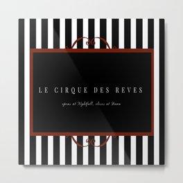 Night Circus Invitation Metal Print