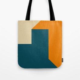 Abstract geometric in orange Tote Bag
