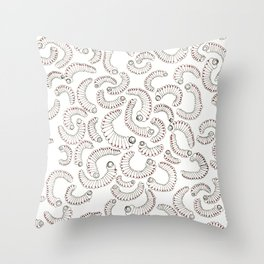 Evolutions - Burrowed Throw Pillow