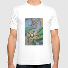 FLORES MEDIUM White Mens Fitted Tee