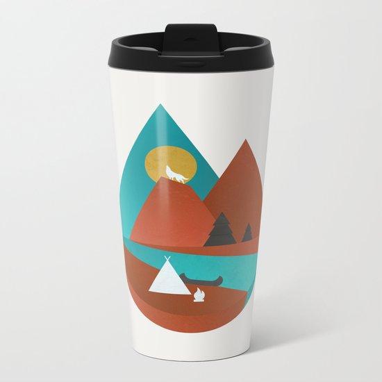 Tipi by the River Metal Travel Mug
