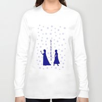 sisters Long Sleeve T-shirts featuring Sisters by BlackBlizzard