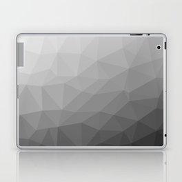 Grey Gradient Geometric Mesh Pattern Laptop & iPad Skin