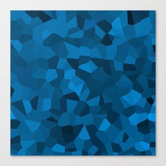 Blue Pixelated Geometric Pattern Canvas Print