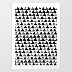 B/W Triangles Art Print