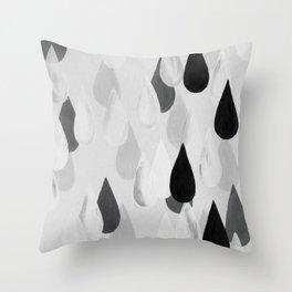 No. 9 - Raindrops Throw Pillow
