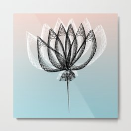Geometric Flower 2 Metal Print