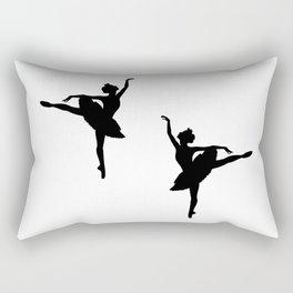Ballerina silhouette (black) Rectangular Pillow
