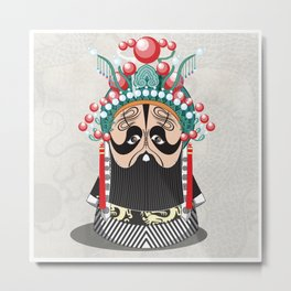Beijing Opera Character XiangYu Metal Print