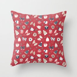 Winter Time - Stay Warm Throw Pillow