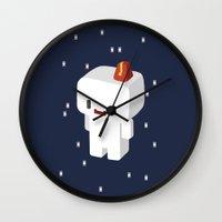 selena gomez Wall Clocks featuring GOMEZ by Pajarona