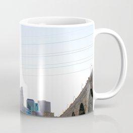 Minneapolis Minnesota Skyline Sunset Under Stone Arch Bridge Coffee Mug