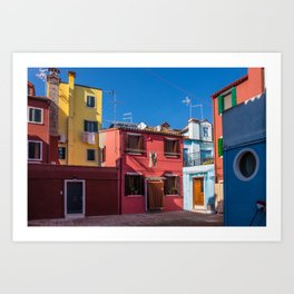 Colorful Dwellings, Burano, Italy Art Print