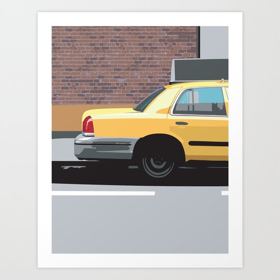 Big Yellow Taxi Art Print