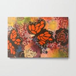 Monarchs in the Garden Metal Print