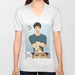 Sousuke and the banana Unisex V-Neck