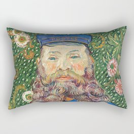 Portrait of the Postman by Vincent van Gogh Rectangular Pillow