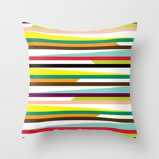Irregular stripes #1 Throw Pillow