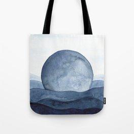 Moon Landscape Tote Bag