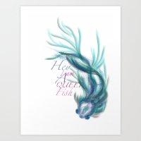 queer Art Prints featuring Queer Fish by EffieElf