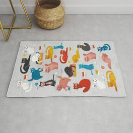 Playful Cats - illustration Rug