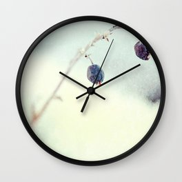 Silver Pane Wall Clock