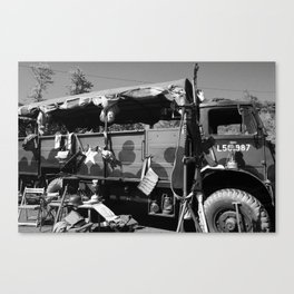 Wartime Memories, black&white Canvas Print