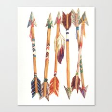 Feathered Arrows Canvas Print