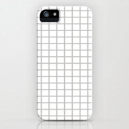 Grey Checkers iPhone Case