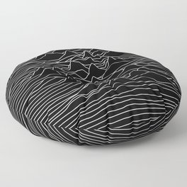 Black and white illustration - sound wave graphic Floor Pillow