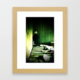 everything is quiet now Framed Art Print