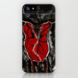 pulling heart strings iPhone Case