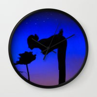 le petit prince Wall Clocks featuring Le Petit Prince by mariavilla