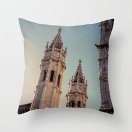 Jeronimos Monastery, Belem - Portugal Throw Pillow
