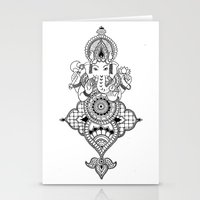 ganesh Stationery Cards featuring Ganesh by N.I.S.