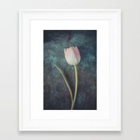 tulip Framed Art Prints featuring Tulip by Maria Heyens