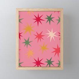 Colourful Sparkles - Pink Framed Mini Art Print