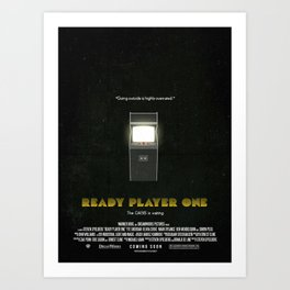'Ready Player One' - Film Poster (Scratches/Vintage) Art Print