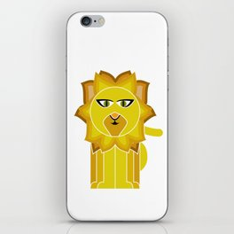 Lion With The Fiery mane iPhone Skin