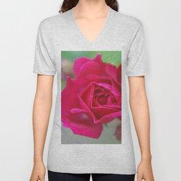 Fluid Nature - Budding Rose - Garden Photography Unisex V-Neck