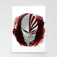 bleach Stationery Cards featuring Bleach - Hollow by Bradley Bailey