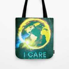 I Care / Blue Tote Bag