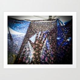 #handadventures at coachella Art Print