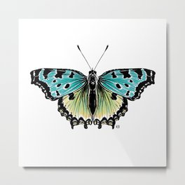 Not so real Butterfly blue Metal Print