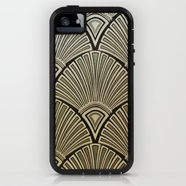 Golden Art Deco pattern iPhone Case