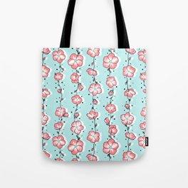 Watermelon Rose Wildflower Tote Bag